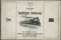 """image of Itinerary of the """"Denver Special"""" to the 51st Annual Meeting of the American Medical Association at Denver, Colorado, June 7th - 10th 1898"""