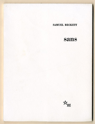 : Les Editions de Minuit, 1969. Square octavo. Printed wrappers. First edition in French. One of 550...