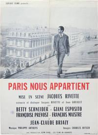 Paris nous appartient [Paris Belongs to Us] (Original French moyenne poster for the 1961 film)