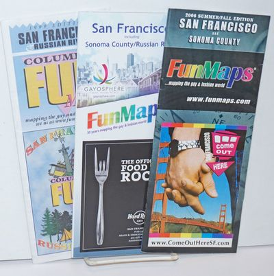 Maplewood: FunMaps, 2014. Three folded color map/directory on glossy stock, guides to the LGBTQ inte...