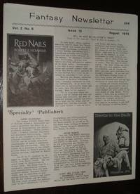 image of Fantasy Newsletter August 1979 Vol. 2 No. 8