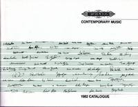 image of Contemporary Music - 1982 Catalogue