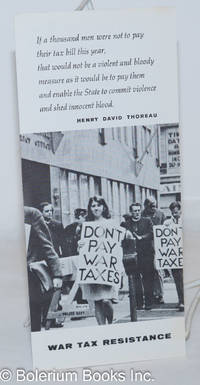 image of War tax resistance