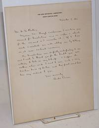 image of [Handwritten letter on letterhead of the Ames Botanical Laboratory, thanking William Wilson Baker for his translations from Latin]