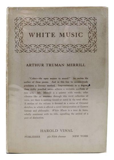 New York: Harold Vinal, 1926. 1st edition (limited to 500cc). Presentation copy. Hardback. Dust jack...