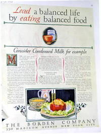 Vintage Advertisement: Borden's Condensed Milk, 1927 - Used Books