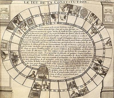 (Game of the Goose) Poesies sur la Constitution Unigenitus. Recueillies par le Chevalier de G..., Of...