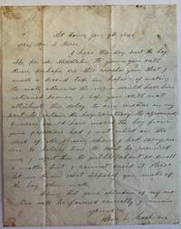 AUTOGRAPH LETTER, 9 JANUARY 1861, FROM BY SAM. L. COCHRAN, TO MAJOR WILLIAM S. MIREE, EXPLAINING HIS ERRONEOUS RETENTION OF THE BOY, ABE.
