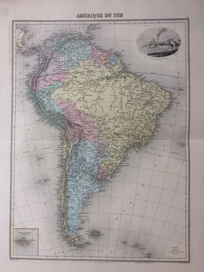 Paris: J. Migeon, 1891. unbound. very good. Map. Engraving with original coloring. Image size 16.25 ...