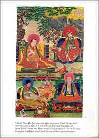 A Set of Seven Lineage Thangkas of Nine Dalai Lamas and Their Previous Incarnations (Sieben Thangka Sukzessions-Serie von neun Dalai Lamas und ihren Praexistenzen)