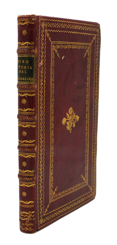 8vo (223x134 mm); nicely bound in contemporary red morocco, gilt centerpiece on the panels within el...