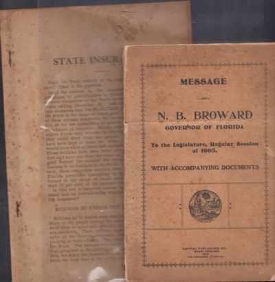 Tallahassee, 1905. Wraps. Good. Small archive of 6 pamphlets and a typed signed letter pertaining to...