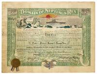 [Certificate and Pamphlet]: Domain of Neptunus Rex (December 1924) / The Cruise Around South America by the U.S.S. Utah. Special Mission of the United States of America to the Republic of Peru on the Occasion of the Centenary of the Battle of Ayacucho December 1924