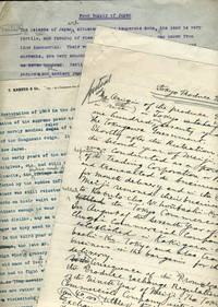 Food Supply in Japan: 1909 manuscripts of speeches