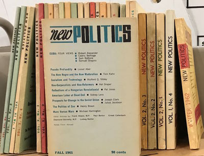 New York: New Politics Publishing Company, 1961. Hardcover. Twenty-eight issues of the journal, pape...