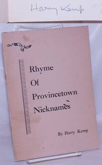 image of Rhyme of Provincetown Nicknames [signed]