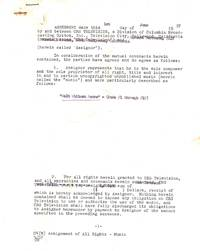 Typed Document Signed, 5 pp, Hollywood, CA, June 1, 1957