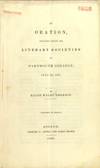 Boston: Charles C. Little and James Brown, 1839. First edition, 8vo, pp. 30, ; stitched, as issued; ...