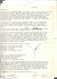 FOUR PAGE TLS FROM ROBERT FINK 11/20/58