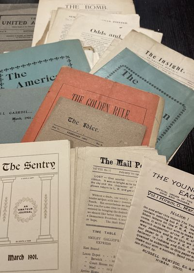 Over 30 Amateur Newspapers c 1901,...