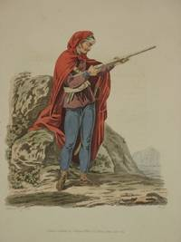 The Costume of the Hereditary States of The House of Austria: Original 1811 Bertrand De Moleville Hand Coloured Engraving - Plate 40: A Pandour, or Red Mantle [Pandur, Austrian Infantry, Croatia]