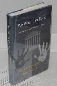 image of We won't go back; making the case for affirmative action
