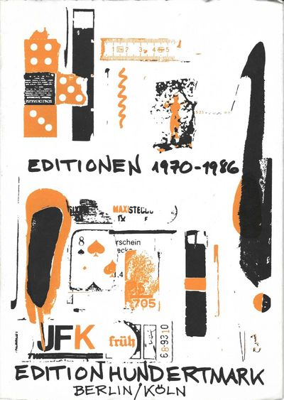 Many black & white illus. 32 pp. Small folio, orig. silk-screened wrappers by Al Hansen, staple-boun...
