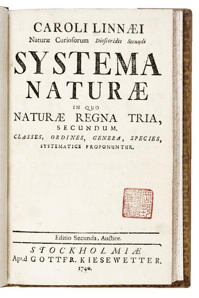 Systema Naturae in quo naturae regna...