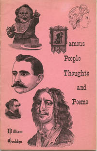 Famous People Thoughts and Poems by  Wiliam Godden  - First printing  - 1959  - from Passages Bookshop (SKU: 3507)