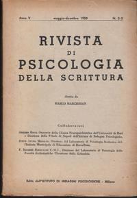 Rivista di psicologia della scrittura V No. 2-3, 1959