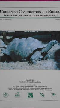 Chelonian Conservation and Biology. International Journal of Turtle and Tortoise Research.  Volume 3, Number 1 August 1998