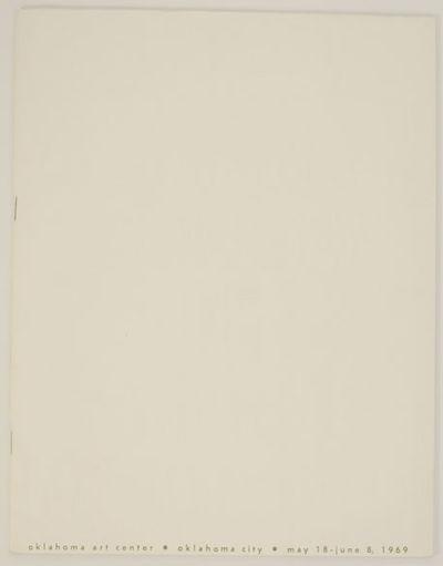 Oklahoma City, OK: Oklahoma Art Center, 1969. First edition. Softcover. Exhibition catalog for a gro...