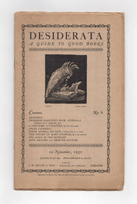 Desiderata. A Guide to Good Books. Number 6, 1st November 1930