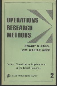 Operations Research Methods: As Applied to Political Science and the Legal Process...