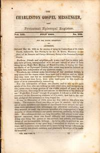 The Charleston Gospel Messenger, and Protestant Episcopal Register July, 1842