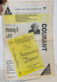 image of Au Courant: Lesbian, Gay & Bisexual Newsweekly; vol. 14, #47, September 24-30, 1996: Betty Berzon - the Intimacy Dance