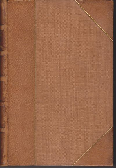 London: Macmillan. 1909. Hardcover. Two volumes. Three-quarter bound in brown leather with gilt stam...