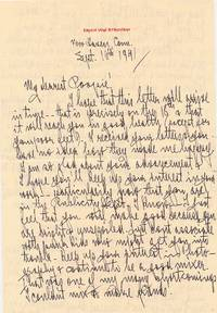 Autograph Letter Signed, 2 pp on one  sheet of personalized stationery, 4to,  New Haven, Conn, Sept. 16, 1941, with  transmittal envelope