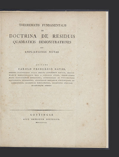 20 pp. Large 4to, attractive antique boards.. Göttingen: H. Dieterich, 1818. First separate edition...