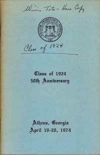 The University of Georgia Alumni Society Class of 1924 50th Anniversary