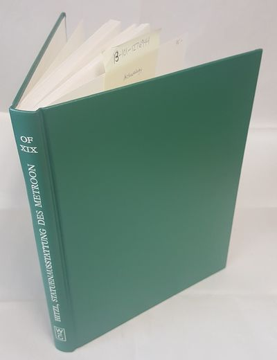 Berlin and New York: Walter de Gruyter, 1991. Text in German; Quarto; VG/no-DJ; Green spine with whi...