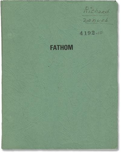 Los Angeles: Twentieth Century-Fox, 1966. Draft script for the 1967 British spy film. With producer ...