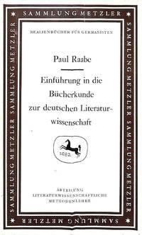 Einführung in die Bücherkunde zur deutschen Literaturwissenschaft.