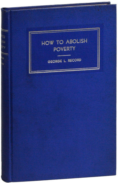 Jersey City: George L. Record Memorial Association, . First Edition. Octavo (20.5cm.); original blue...