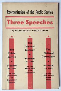 image of Reorganisation of the public service: Three speeches