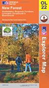 image of New Forest, Southampton, Ringwood, Ferndown, Lymington, Christchurch and Bournemouth (OS Explorer Map) (OS Explorer Map Active)