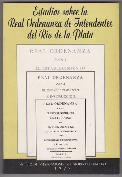 Buenos Aires: Instituto de Investigaciones de Historia del Derecho, 1995. Paper wrappers. Shelfwear ...