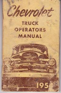Chevrolet Truck Operators Manual 1954