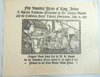 Five Hundred Years of King Arthur (Broadside)