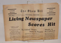 The living newspaper: the show bill; vol. 1, no. 3, The Biltmore Theatre, March 28, 1936; The Living Newspaper Scores Hit